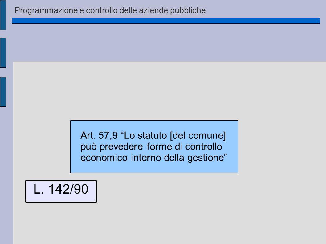 L. 142/90 Art. 57,9 Lo statuto [del comune]